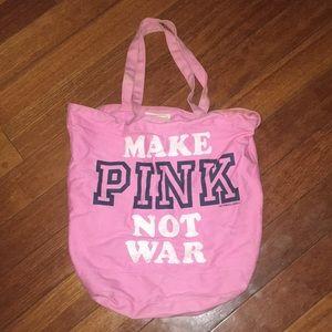 Make PINK Not War VS Pink tote